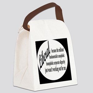 liberalexpbutton Canvas Lunch Bag