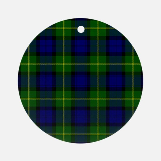Gordon Scottish Tartan Round Ornament