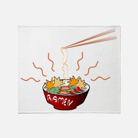 Ramen Noodles Throw Blanket