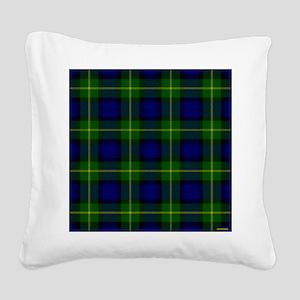 Gordon Scottish Tartan Square Canvas Pillow