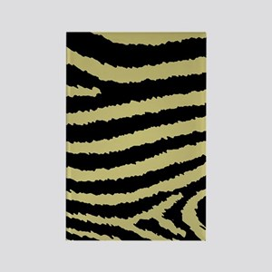 Classy Gold And Black Zebra Print Rectangle Magnet
