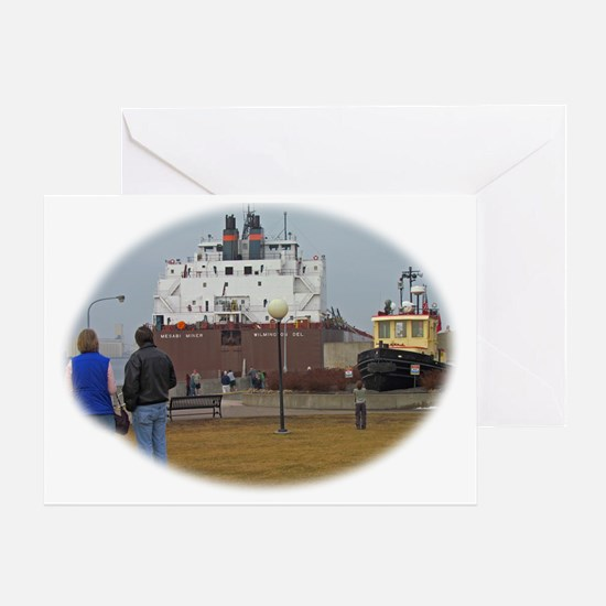 Mesabi Miner arriving Duluth Greeting Card