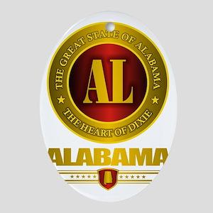 Alabama Gold Label Oval Ornament