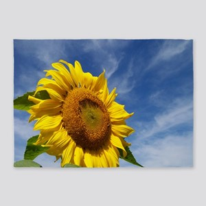 Sunflower Reaching for the Sky 5'x7'Area Rug