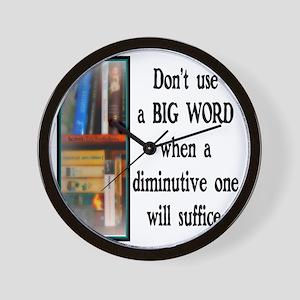 Big Words Wall Clock