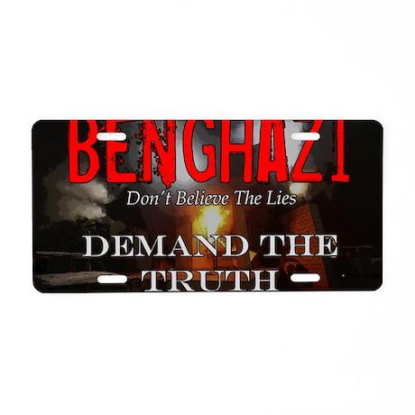 Benghazi Yard Sign Demand T Aluminum License Plate