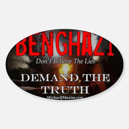 Benghazi Yard Sign Demand The Truth Sticker (Oval)