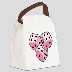 Bunco Breast Cancer Dice Canvas Lunch Bag