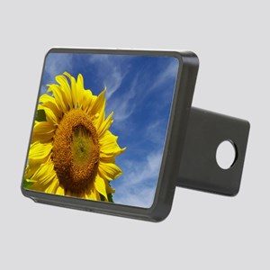 Sunflower Reaching for the Rectangular Hitch Cover