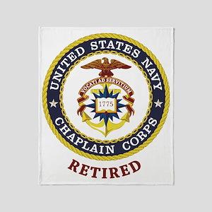 Retired US Navy Chaplain Throw Blanket