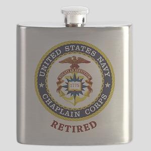 Retired US Navy Chaplain Flask