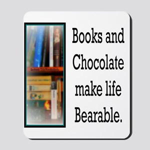 Books and Chocolate Mousepad