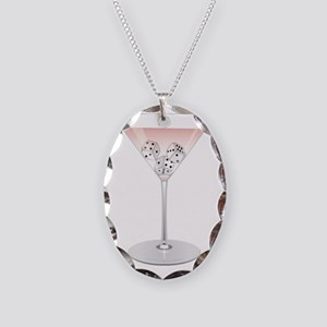 Bunco Martini Cocktail Necklace Oval Charm