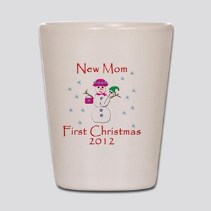 New Mom First Christmas Shot Glass