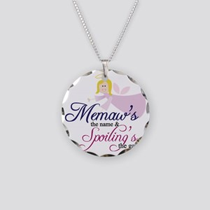 Memaw Angel Necklace Circle Charm