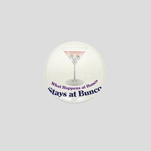 What Happens at Bunco Mini Button
