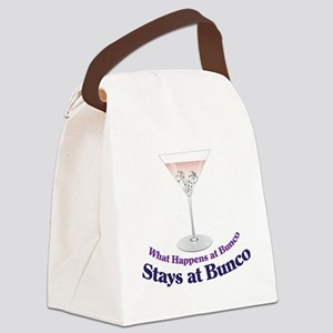 What Happens at Bunco Canvas Lunch Bag