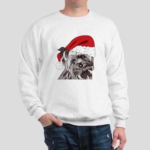 Cute Yorkie Christmas Puppy Sweatshirt