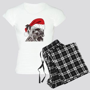 Cute Yorkie Christmas Puppy Women's Light Pajamas