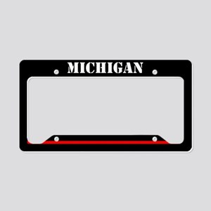 Michigan Fire And Rescue License Plate Holder