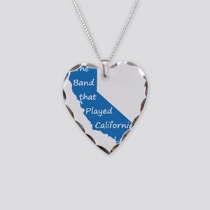 California Lady Tour Shirt Necklace Heart Charm