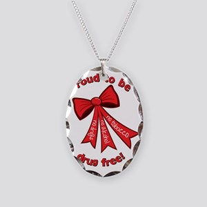 Proud to be drug free! Necklace Oval Charm