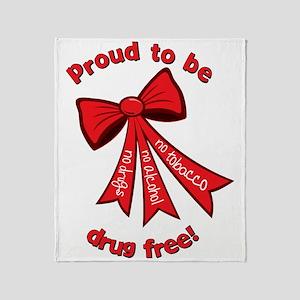 Proud to be drug free! Throw Blanket
