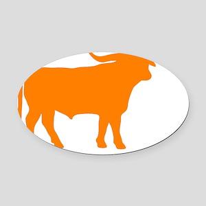 Longhorn Bull Oval Car Magnet
