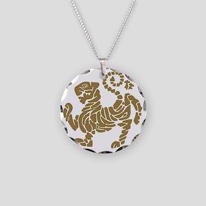 tigre shotokan Necklace Circle Charm