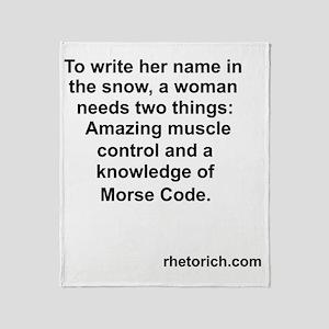 Morse Code Throw Blanket