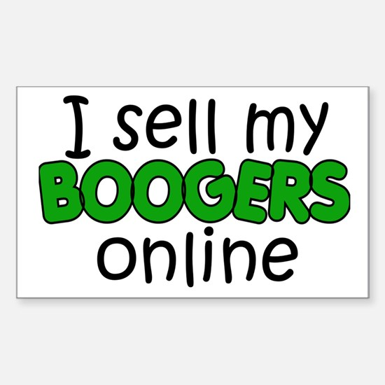 Boogers Rectangle Decal