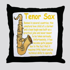 Tenor Sax Throw Pillow