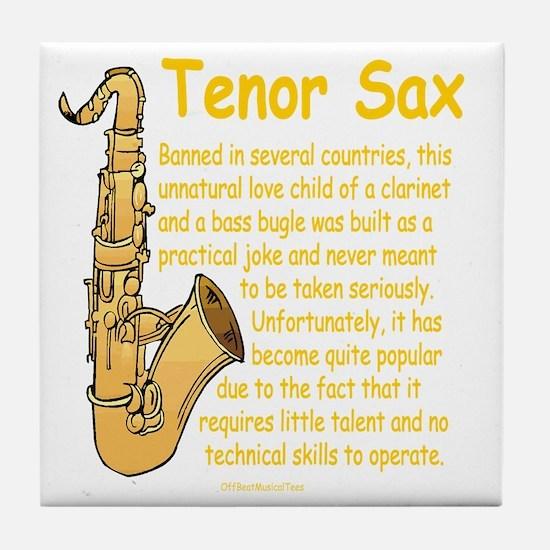 Tenor Sax Tile Coaster