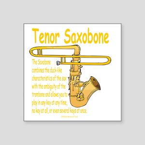 """Tenor Saxobone Square Sticker 3"""" x 3"""""""
