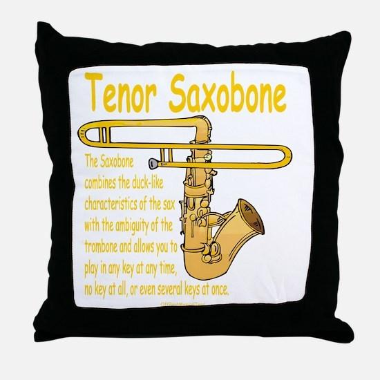 Tenor Saxobone Throw Pillow