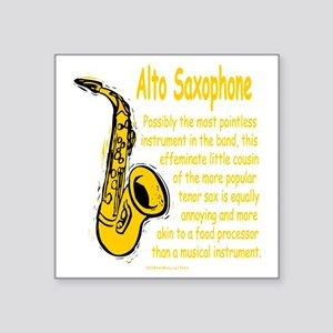 "Alto Saxophone Square Sticker 3"" x 3"""