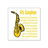 Funny saxophone Square