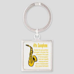 Alto Saxophone Square Keychain