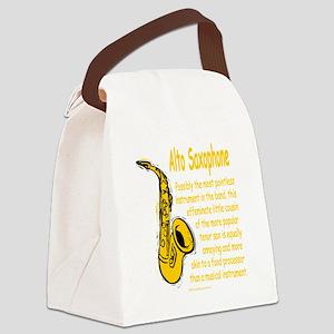 Alto Saxophone Canvas Lunch Bag
