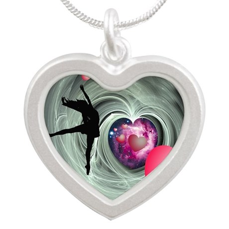 I Love To Dance! Silver Heart Necklace
