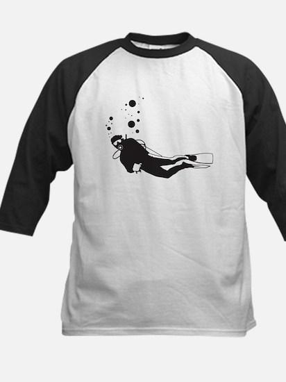 Scuba Diving Kids Baseball Jersey