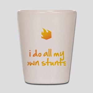 I Do All My Own Stunts Shot Glass