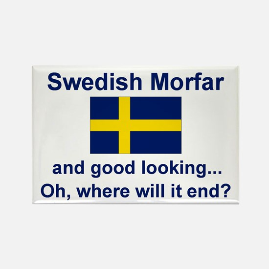 Good Lkg Swedish Morfar Rectangle Magnet