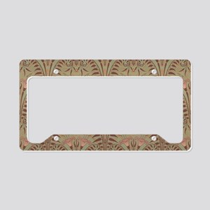 Haunted Foyer Mansion Wallpap License Plate Holder
