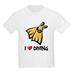 I Love Diving Kids T-Shirt