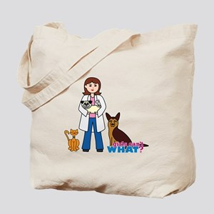 Woman Veterinarian Tote Bag