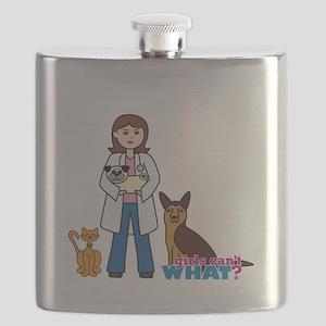 Woman Veterinarian Flask