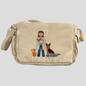 Woman Veterinarian Messenger Bag