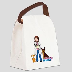 Woman Veterinarian Canvas Lunch Bag