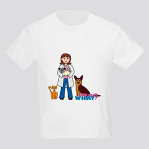 Woman Veterinarian Kids Light T-Shirt